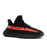 Scarpe Sneakers basse adidas Originals Yeezy Boost 350 V2 Red Stripe Core Black/Red/Core Black