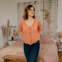 Abbigliamento Donna Gilet / Cardigan Céleste BERGAMOTE Saumon