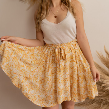 Abbigliamento Donna Gonne Céleste EGLANTINE Giallo / Bianco