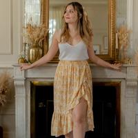 Abbigliamento Donna Gonne Céleste TOURTERELLE Giallo / Bianco