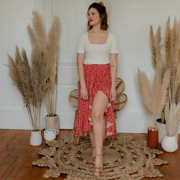 Abbigliamento Donna Gonne Céleste TOURTERELLE Rosso / Multicolore