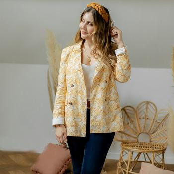 Abbigliamento Donna Giacche / Blazer Céleste ALIZE Giallo / Bianco