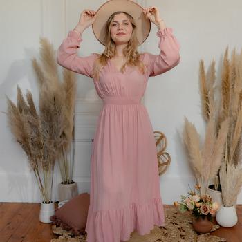 Abbigliamento Donna Abiti lunghi Céleste COLOMBE Rosa