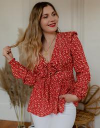 Abbigliamento Donna Top / Blusa Céleste ROSSIGNOL Rosso / Multicolore
