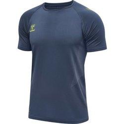 Abbigliamento Uomo T-shirt maniche corte Hummel Maillot d'entrainement bleu/jaune