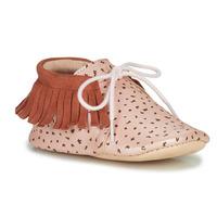 Scarpe Bambina Pantofole Easy Peasy MEXIMOO Mou / Rosa / Baba-impr / Bete / Mou / Pelle