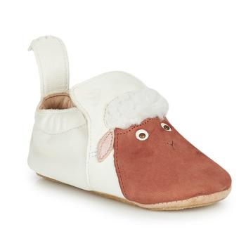 Scarpe Unisex bambino Pantofole Easy Peasy BLUBLU MOUTON Bianco