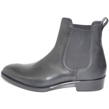 Scarpe Uomo Stivali Ls Luisantiago Chelsea Boots stivali uomo in vera pelle di napp NERO