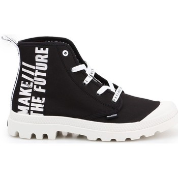 Scarpe Donna Sneakers basse Palladium Manufacture Pampa HI Future Bianco, Nero
