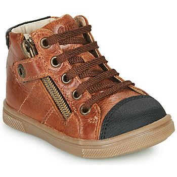 Scarpe Bambino Sneakers alte GBB KAMIL Marrone