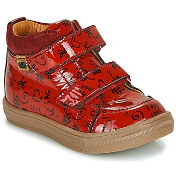 Scarpe Bambina Sneakers alte GBB DOMENA Rosso