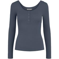 Abbigliamento Donna T-shirts a maniche lunghe Pieces 17101437 Blu