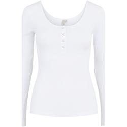 Abbigliamento Donna T-shirts a maniche lunghe Pieces 17101437 Bianco