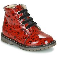 Scarpe Bambina Sneakers alte GBB NAREA Rosso
