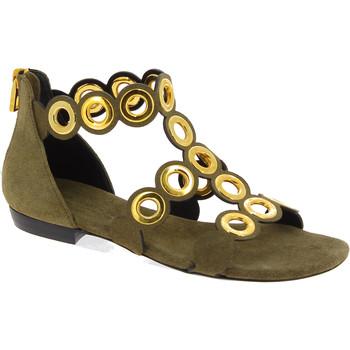 Scarpe Donna Sandali Barbara Bui sandali bassi da donna in camoscio borchie dora Marrone chiaro