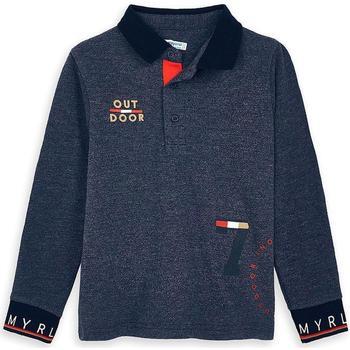 Abbigliamento Unisex bambino Polo maniche lunghe Mayoral ATRMPN-24271 Blu