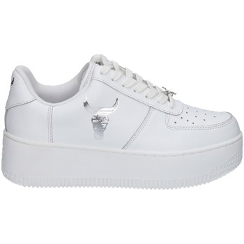 Scarpe Donna Sneakers basse Windsor Smith REMIX BIANCO E ARGENTO