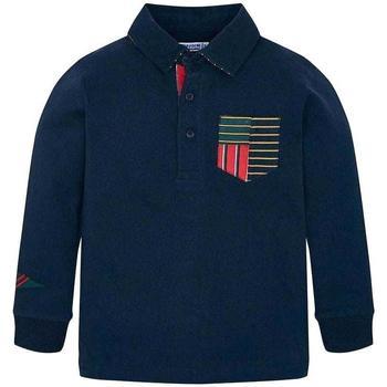 Abbigliamento Unisex bambino Polo maniche lunghe Mayoral ATRMPN-24276 Blu