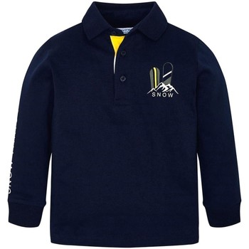 Abbigliamento Unisex bambino Polo maniche lunghe Mayoral ATRMPN-24277 Blu