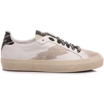 Scarpe Uomo Sneakers basse Stokton Sneakers Uomo Pelle Bianco Blaze-U-SS21 Bologna bianco