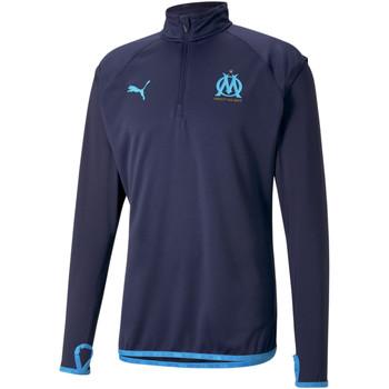 Abbigliamento Uomo Giacche sportive Puma Sweat OM Warmup bleu foncé/bleu azur