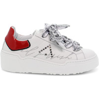 Scarpe Donna Sneakers basse Ed Parrish Sneakers  ALESSIA in pelle e vernice bianco e rosso bianco,rosso