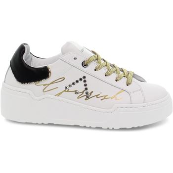 Scarpe Donna Sneakers basse Ed Parrish Sneakers  ALESSIA in pelle bianco e nero bianco,nero