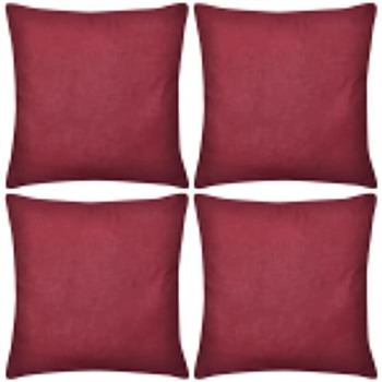Casa Fodere per cuscini VidaXL Federa 40 x 40 cm Rosso