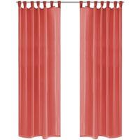 Casa Tende Vidaxl 2 Pz Tende in Voile 140x175 cm Rosso Rosso