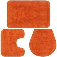 Casa Tappetino da bagno VidaXL Set tappetini per bagno Arancione