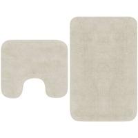 Casa Tappetino da bagno VidaXL Set tappetini per bagno Bianco