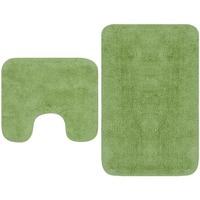 Casa Tappetino da bagno VidaXL Set tappetini per bagno Verde