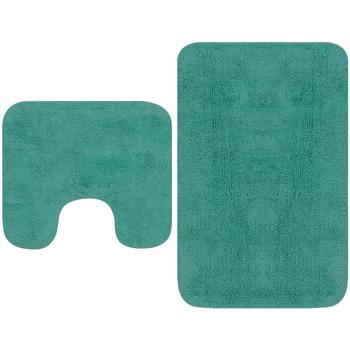 Casa Tappetino da bagno VidaXL Set tappetini per bagno Turchese
