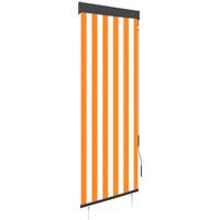 Casa Tende Vidaxl Tenda a Rullo per Esterni 60x250 cm Bianca e Arancione Arancione