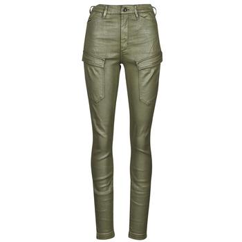 Abbigliamento Donna Pantalone Cargo G-Star Raw HIGH G-SHAPE CARGO SKINNY PANT WMN Kaki