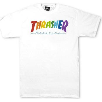 Abbigliamento Uomo T-shirt maniche corte Thrasher T-shirt rainbow mag ss Bianco
