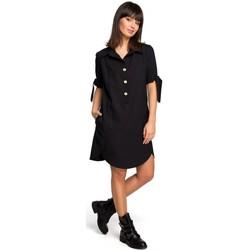 Abbigliamento Donna Tuniche Be B112 Tunica con colletto e maniche legate - nero