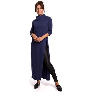 Abbigliamento Donna Tuniche Be B163 Tunica con spacco alto - blu
