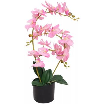 Casa Piante artificiali Vidaxl Orchidea Artificiale con Vaso 65 cm Rosa Rosa