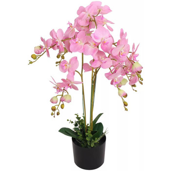 Casa Piante artificiali Vidaxl Orchidea Artificiale con Vaso 75 cm Rosa Rosa