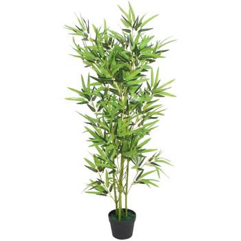 Casa Piante artificiali Vidaxl Bambù Artificiale con Vaso 120 cm Verde Verde