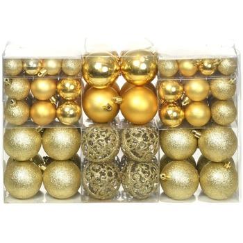 Casa Decorazioni festive Vidaxl Set Palline di Natale 100 pz 6 cm Oro Oro