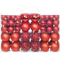 Casa Decorazioni festive VidaXL Set palline di Natale Rosso