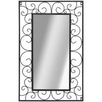 Casa Specchi VidaXL Specchio da giardino 50 x 80 cm Nero