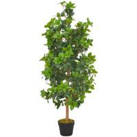 Casa Piante artificiali Vidaxl Albero di Alloro Artificiale con Vaso Verde 120 cm Verde