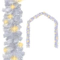 Casa Decorazioni festive Vidaxl Ghirlanda Natalizia con Luci a LED 5 m Bianca Bianco