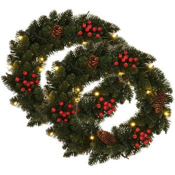 Casa Decorazioni festive VidaXL Corona natalizia Verde