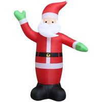 Casa Decorazioni festive Vidaxl Babbo Natale Gonfiabile con LED IP44 600 cm XXL Rosso