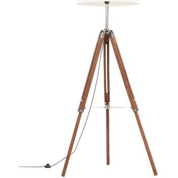 Casa Lampade da tavolo VidaXL Lampada da pavimento Marrone