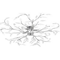 Casa Lampadari, sospensioni e plafoniere VidaXL Lampadario 100 x 15 cm Bianco